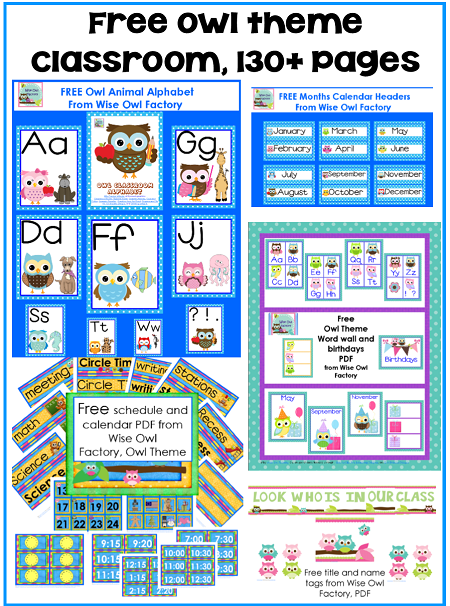 Printable Owl Classroom Decorations ~ Best images of classroom birthday printables free