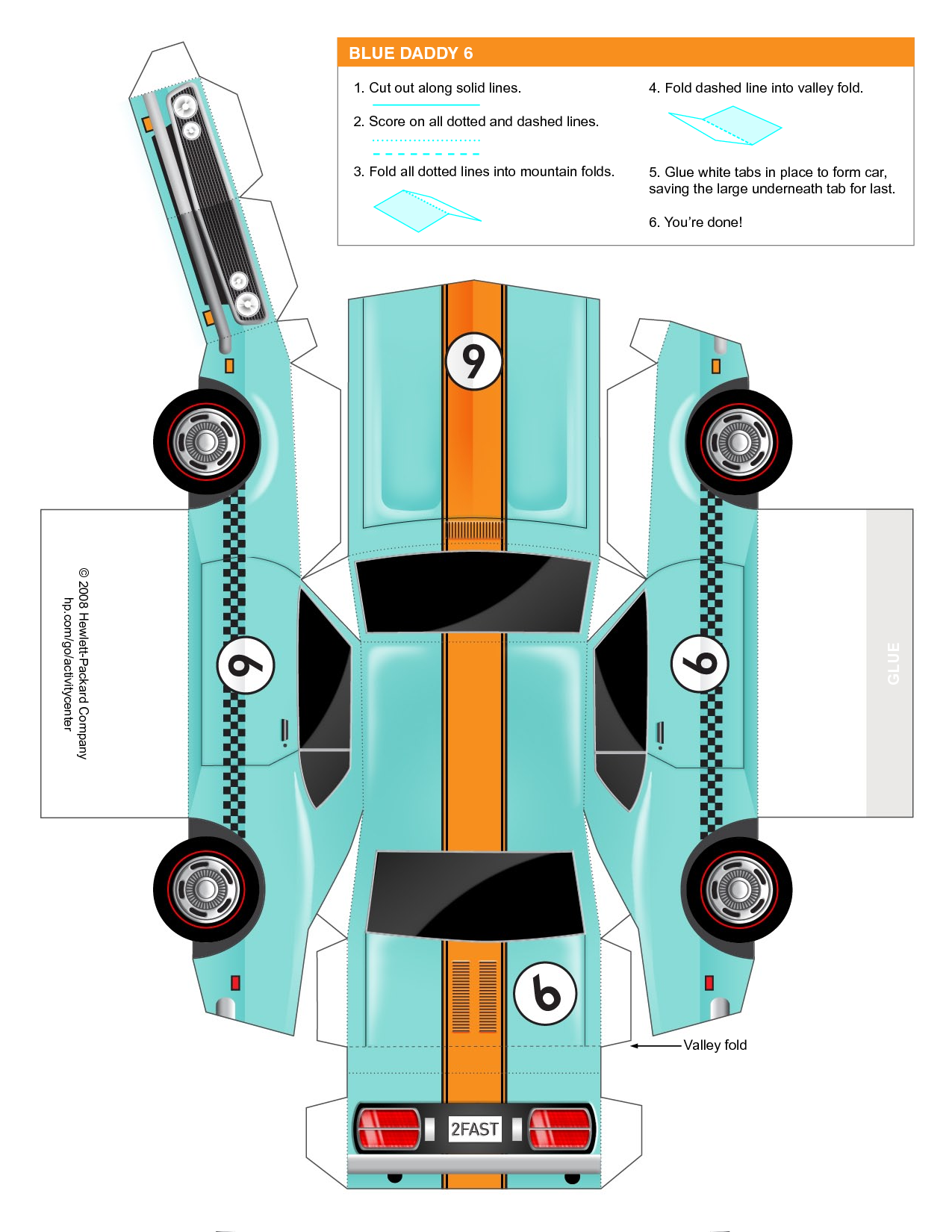 Crafts Printable And Paper Car Template Print Out Printableecom