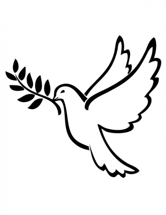 6 Images of Printable Peace Dove