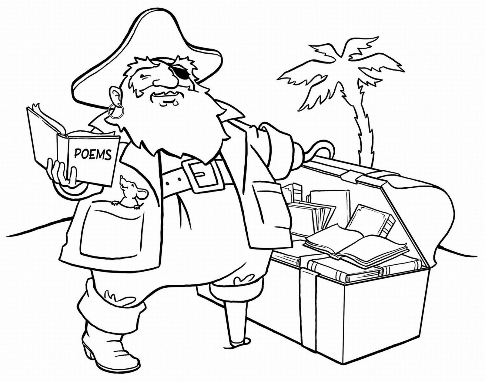 4 Images of Free Printable Pirate Coloring Pages