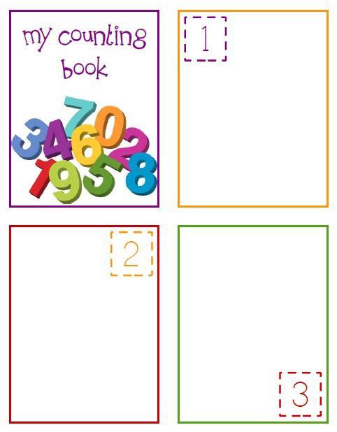 Preschool Counting Books Printable