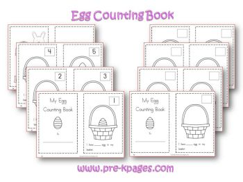Preschool Easter Counting Printable Book