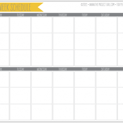 7 Images of Week By Week Calendar Printable