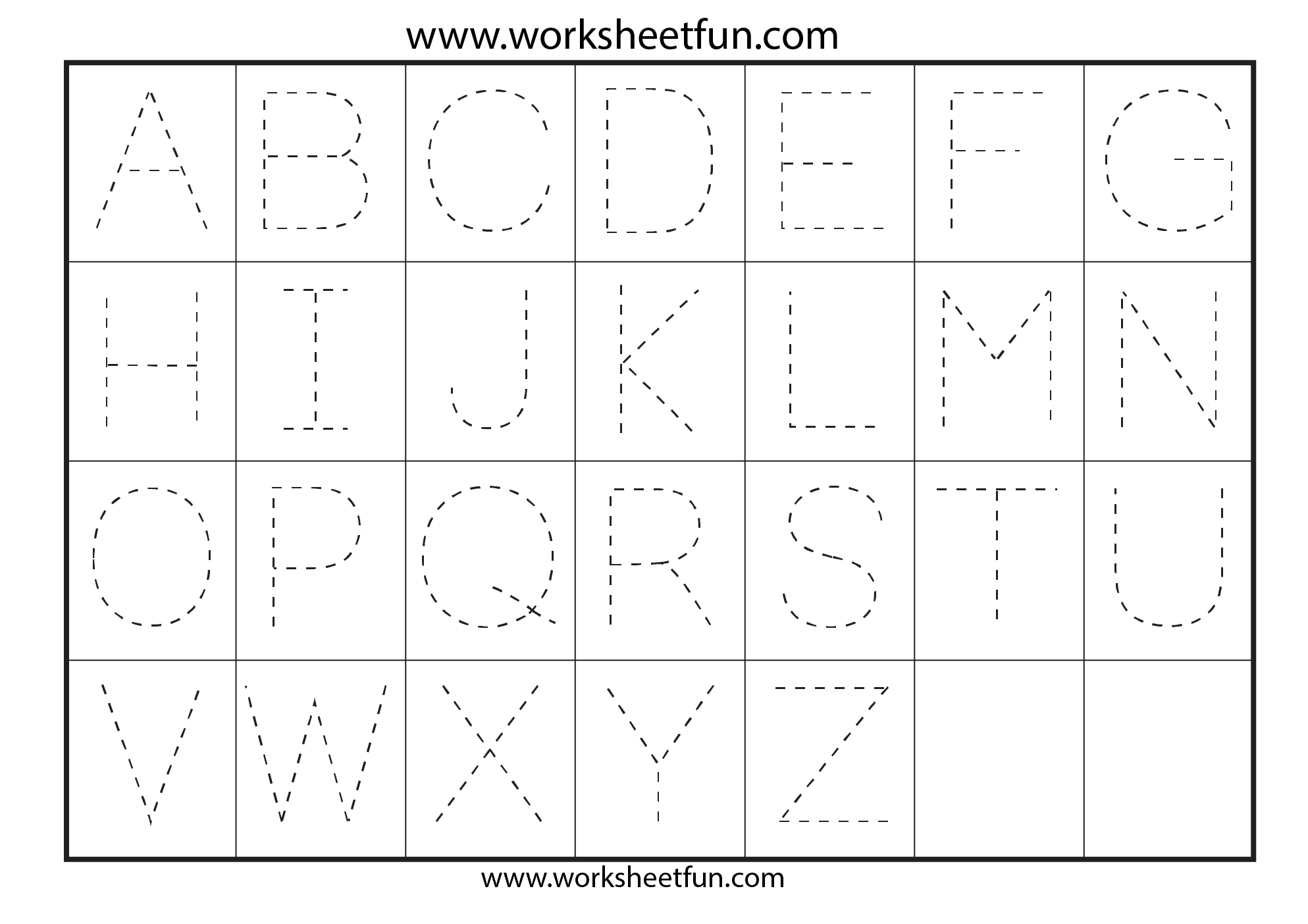 Free Traceable Alphabet Worksheets For Preschoolers - Synhoff