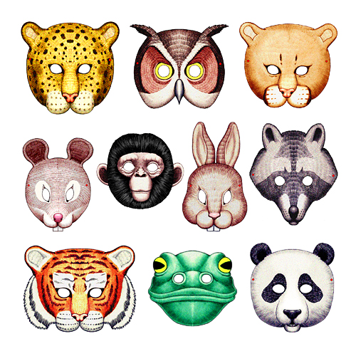 6 Images of Free Printable Animal Masks