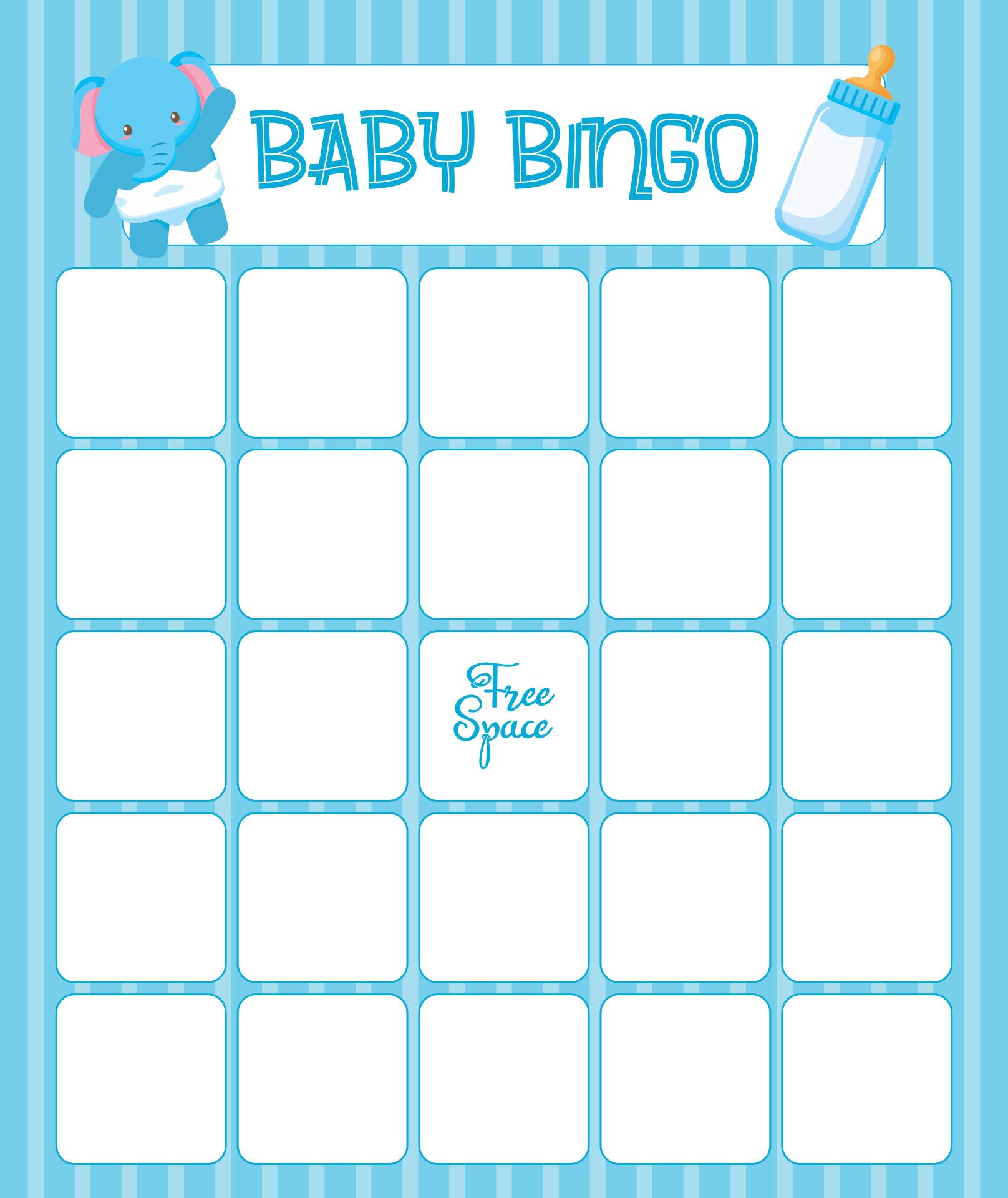 Printable Baby Shower Bingo Card Template