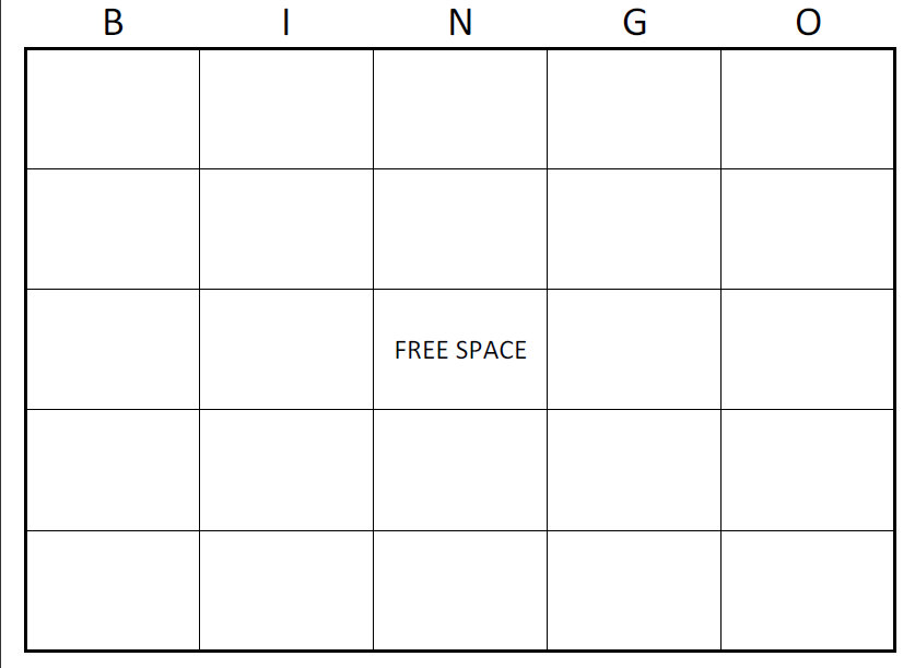 11 best images of excel bingo card printable template