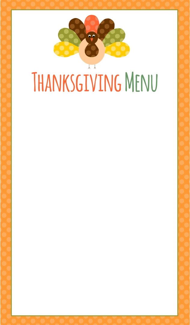 8 best images of free thanksgiving printable card for Free printable menu templates