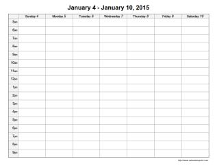 ... , Printable Calendar with Time Slots & Free Printable Weekly Schedule