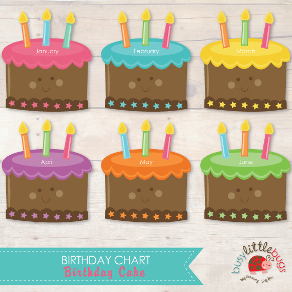 8 best images of classroom birthday printables free for Birthday chart template for classroom