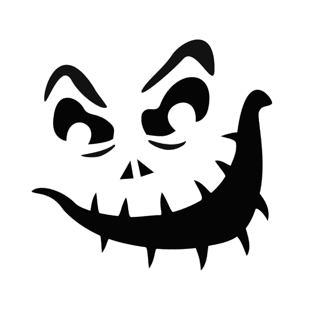 7 best images of printable jack o lantern pumpkin stencil for Scary jack o lantern face template