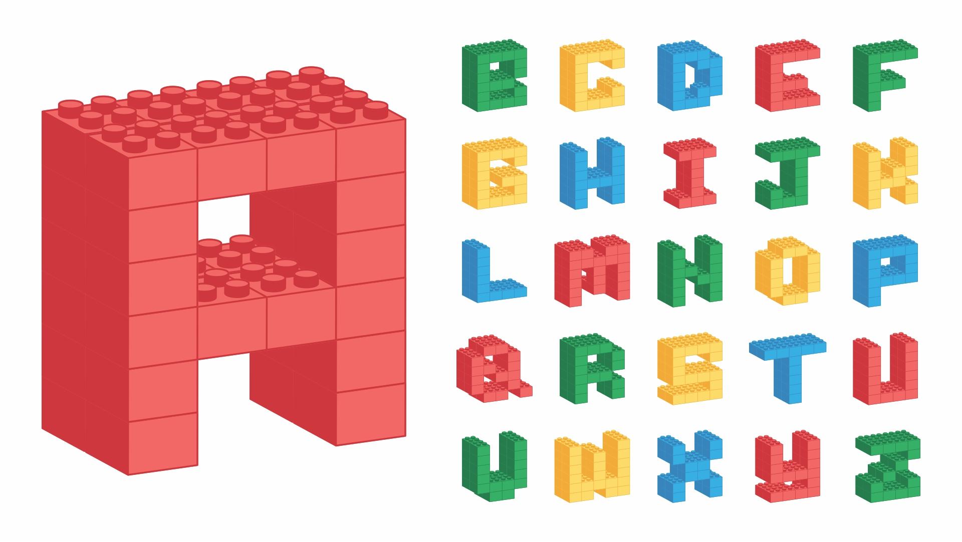 Printable LEGO Letters Alphabet