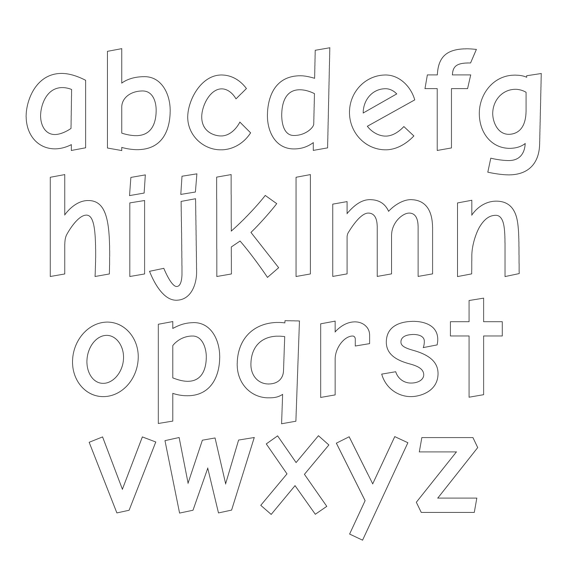 Printable Lowercase Alphabet Letters