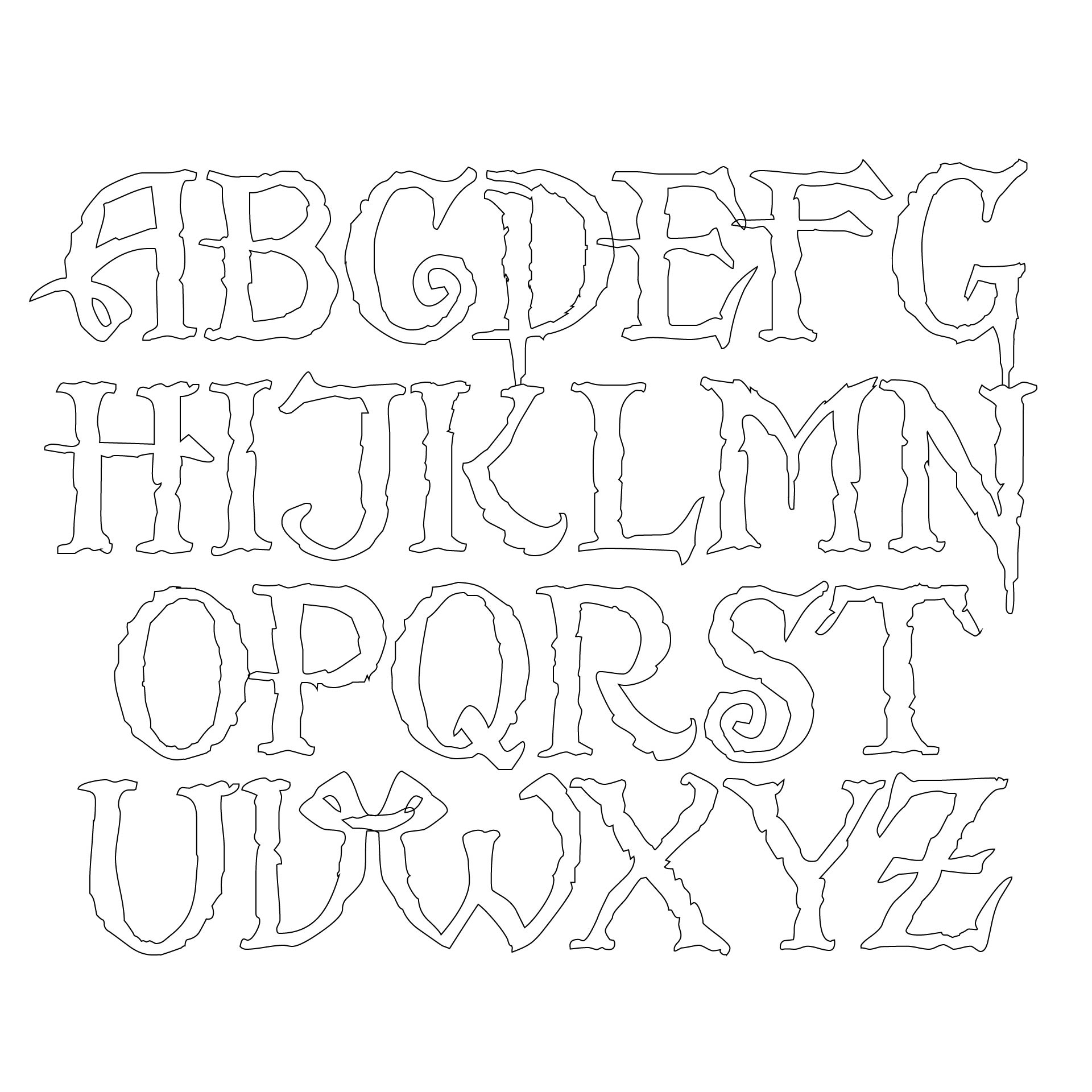 Printable Medium Alphabet Letters