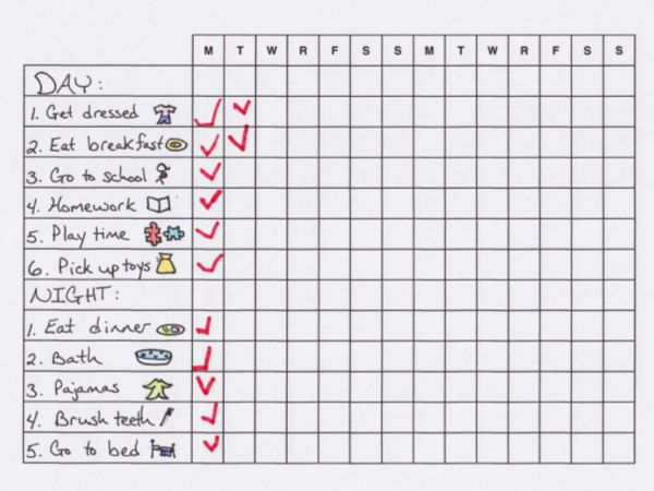 4 best images of blank morning routine printables