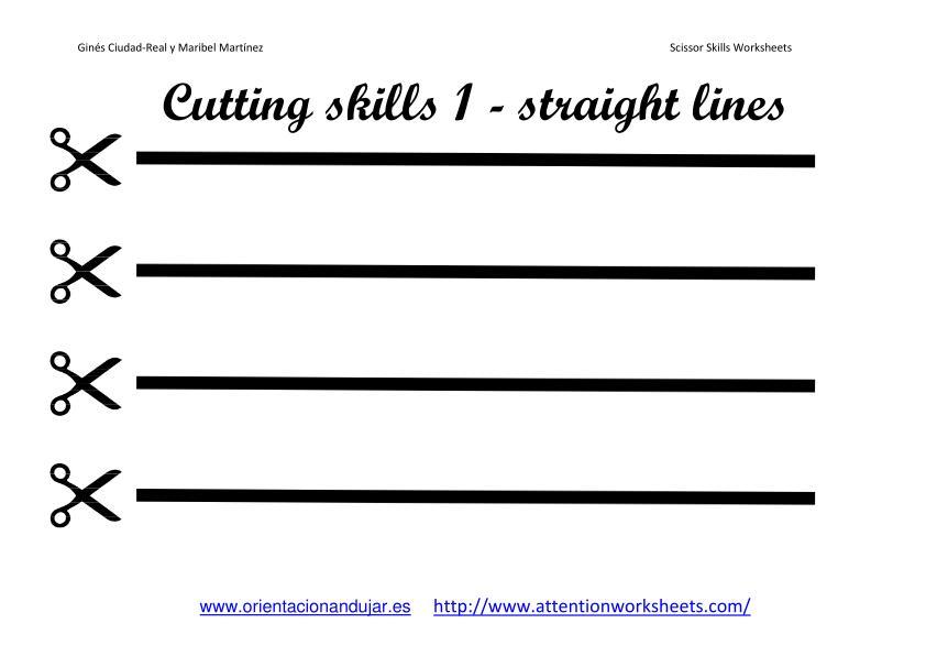 Printable Scissor Cutting Worksheets Preschool