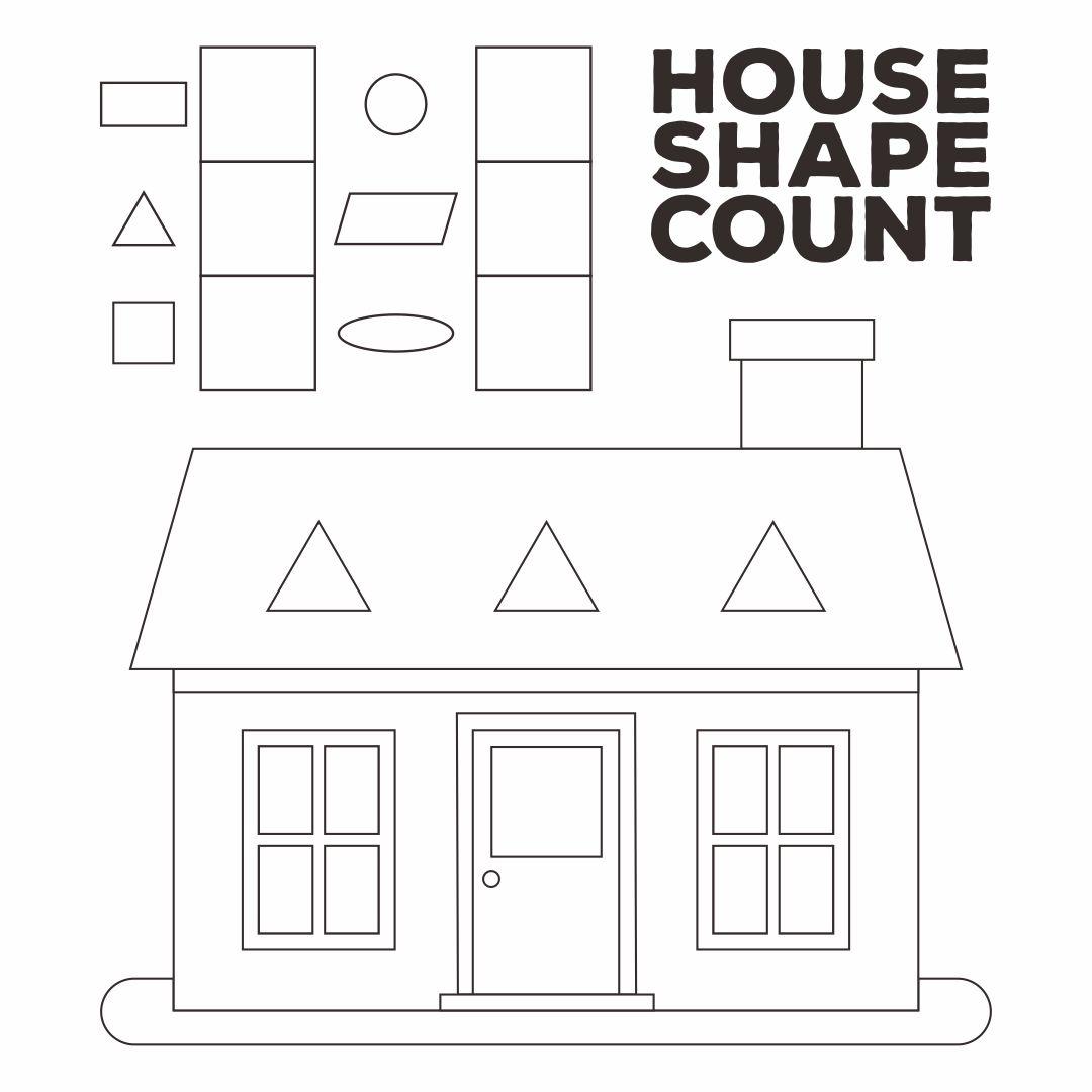 Printable Worksheets Shape Houses