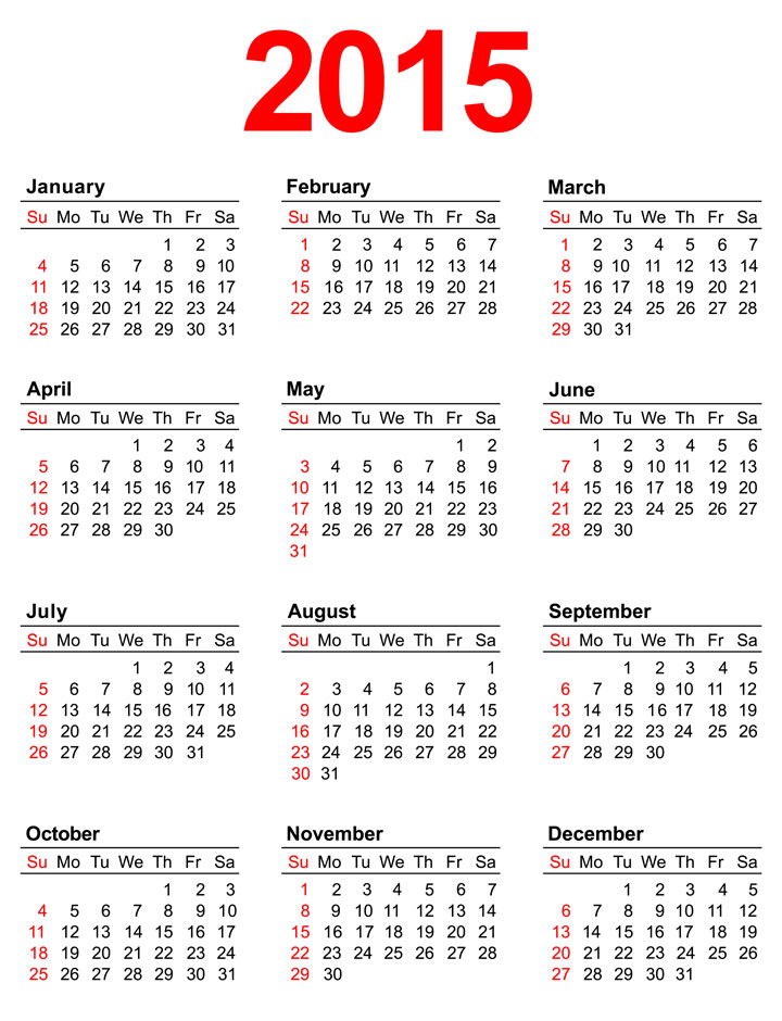 11 Images of Act Calendar 2015 Printable