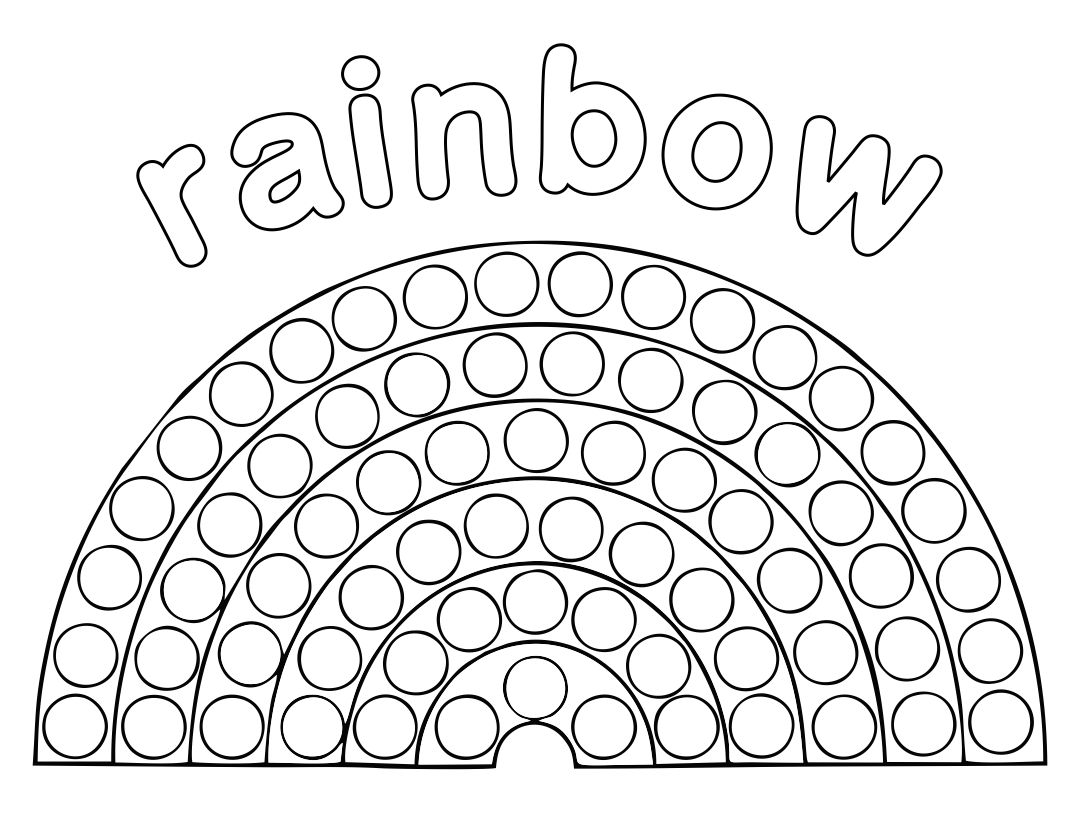 Rainbow Bingo Dot Printables Free
