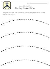 Scissor Cutting Worksheets Printable