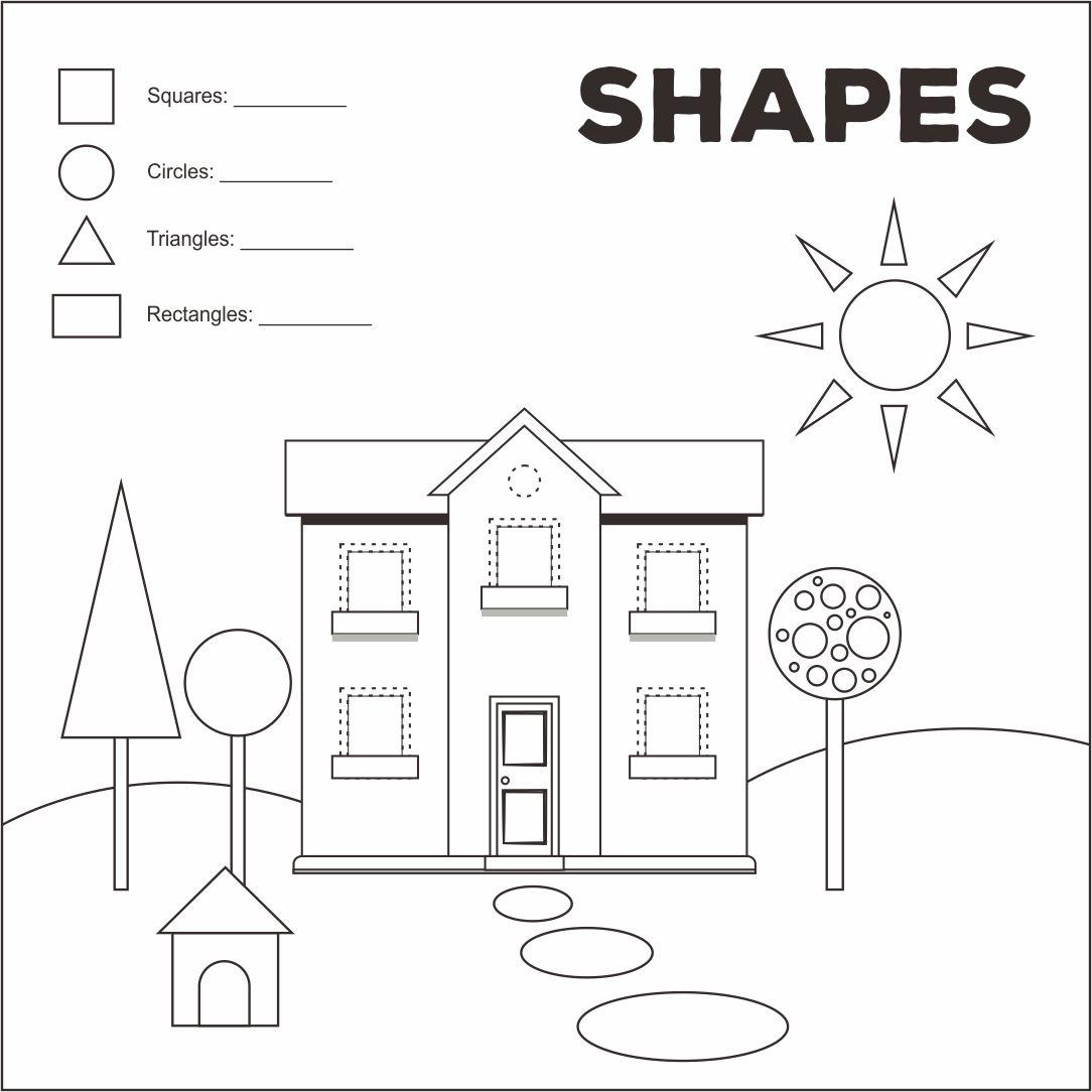 5 best images of shape worksheets printable houses preschool house shape template free. Black Bedroom Furniture Sets. Home Design Ideas