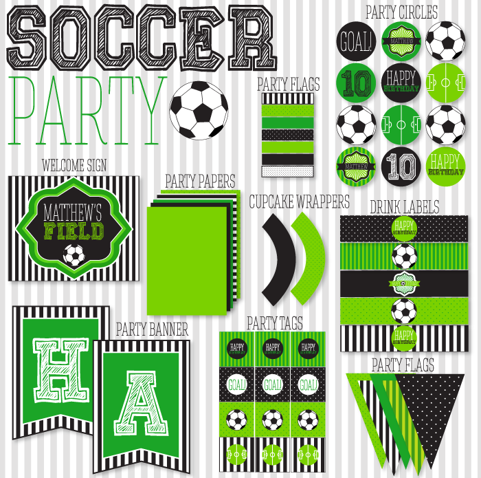 9 Images of Soccer Party Free Printables