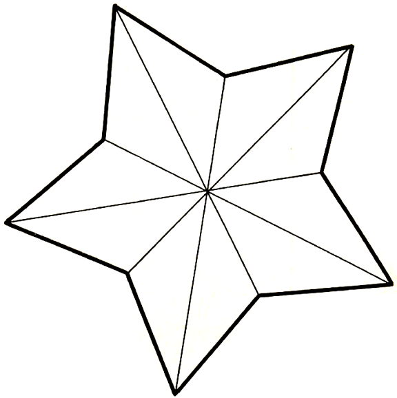 6 Images of 5 Point Printable Star Pattern