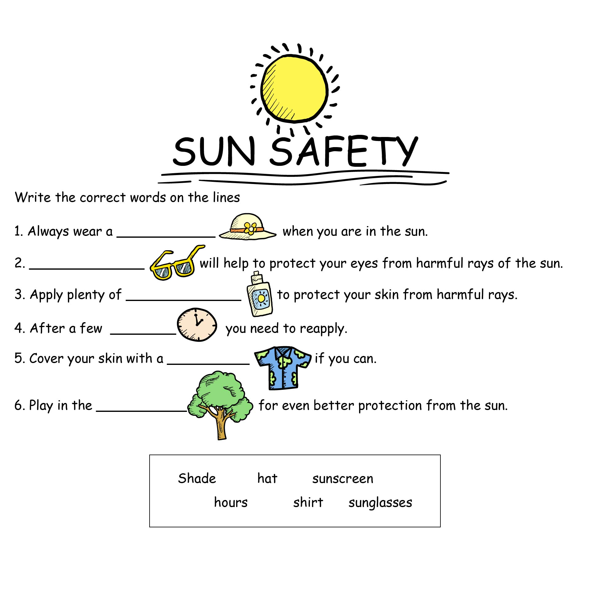 Summer Safety Coloring Book | 443x304