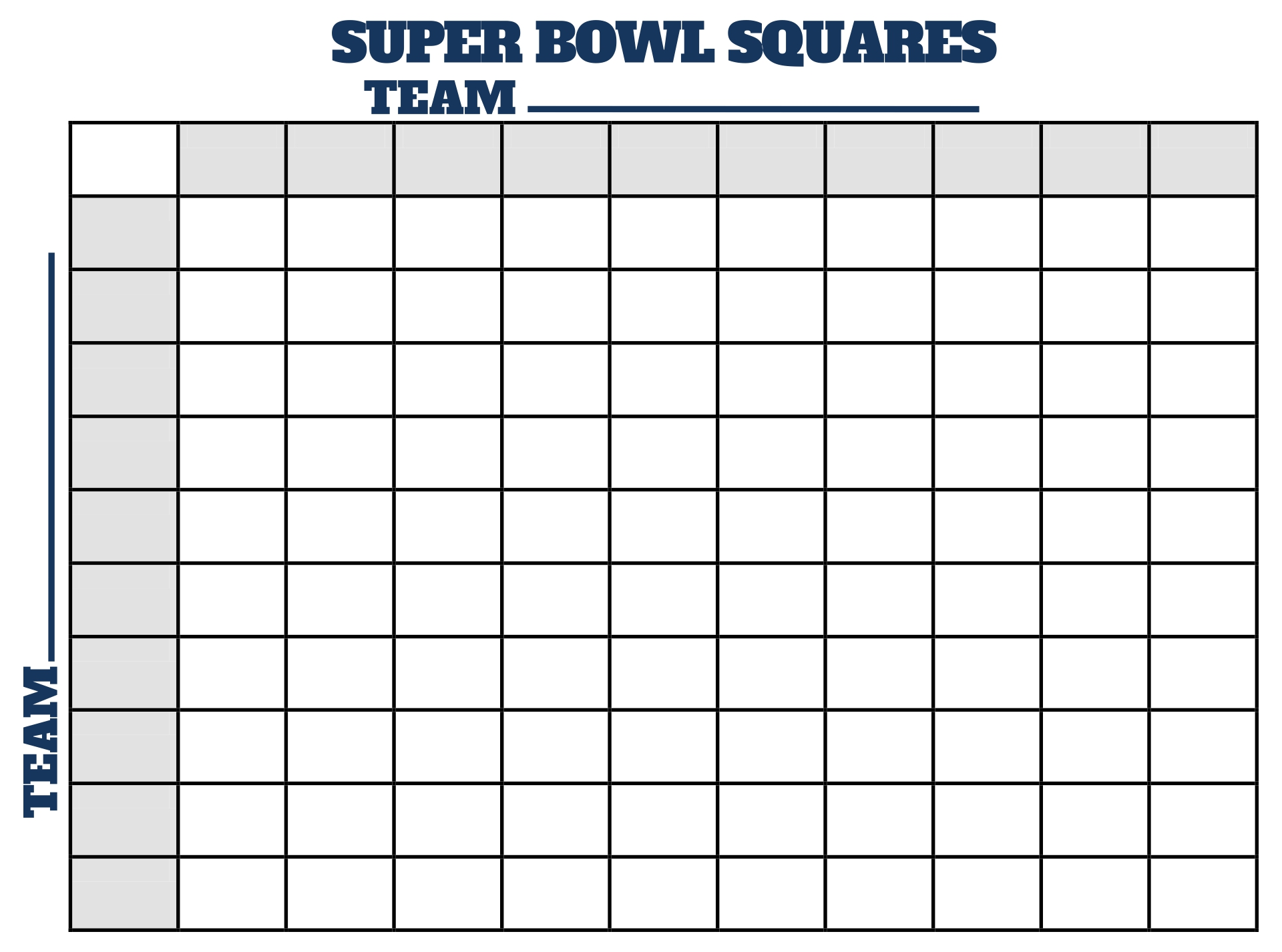super bowl 2015 squares template - 8 best images of super bowl football squares printable