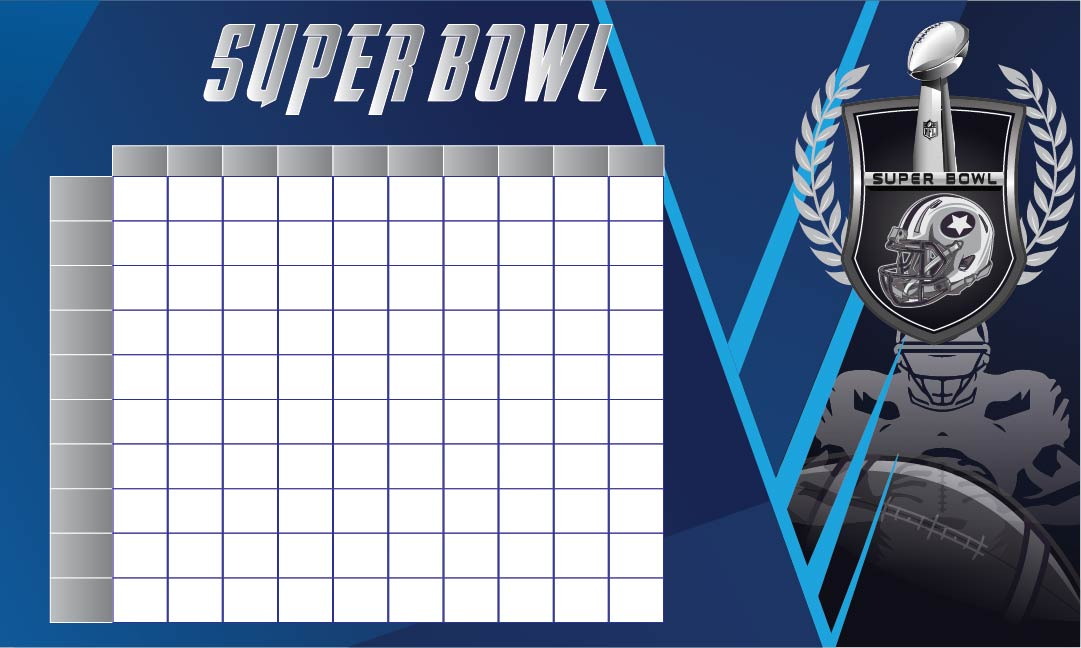 8 Images of Super Bowl Football Squares Printable