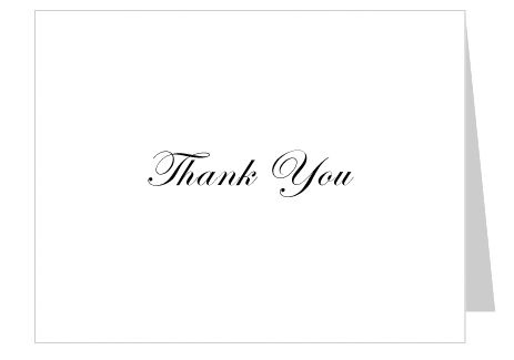 5 Images of Free Printables Thank You Card Template Blank
