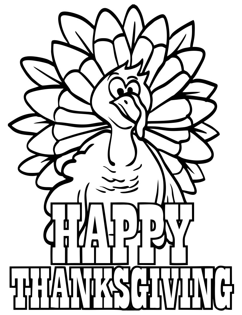 7 Images of Thanksgiving Turkeys To Color Printable