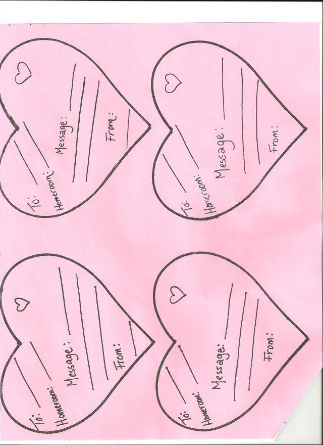 Valentine Candy Gram Template