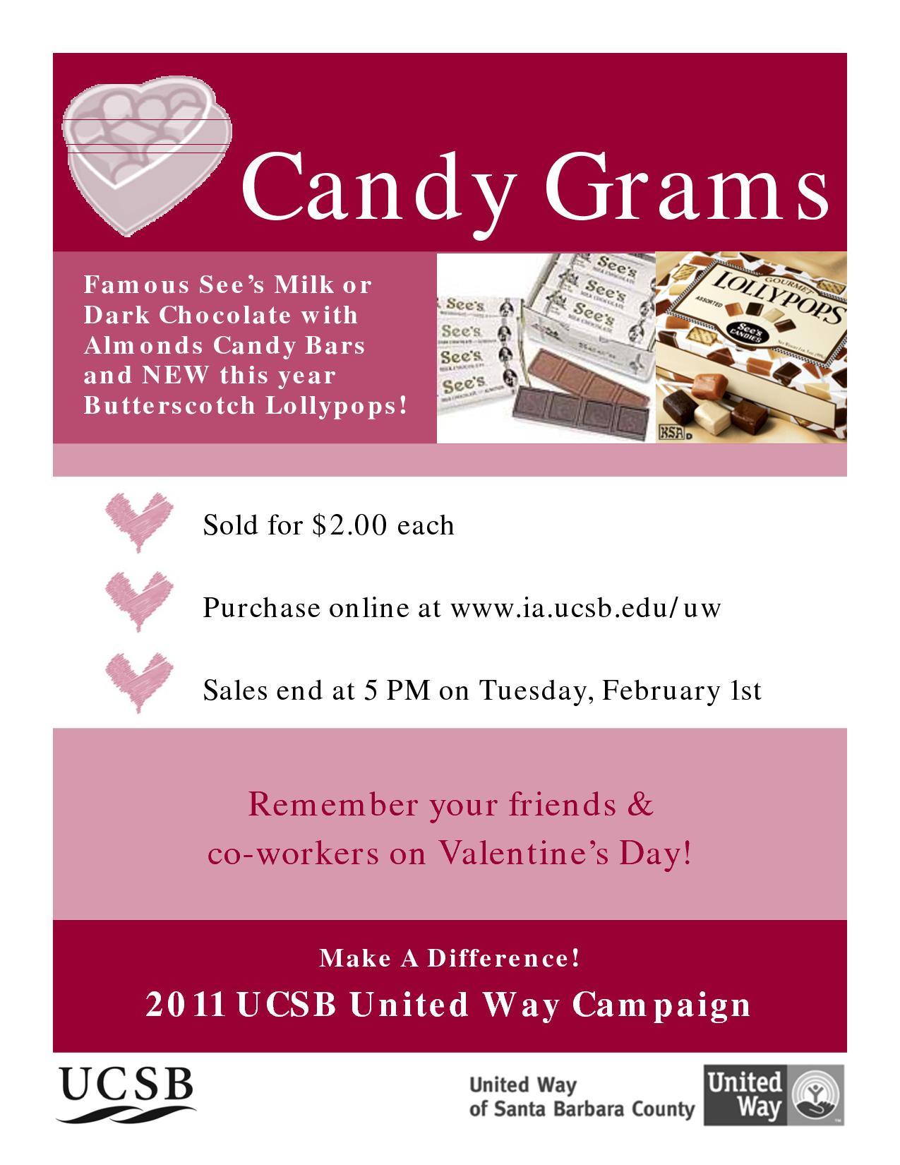 Valentine's Day Candy Gram Flyer