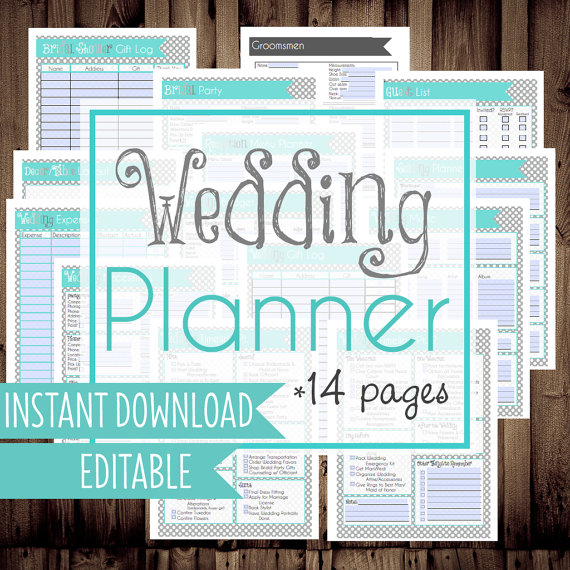6 Images of Printable Wedding Planner