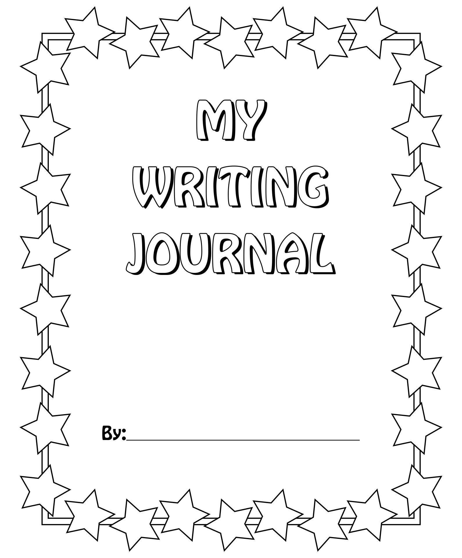 7 Images of Journal Cover Writing Page Printable