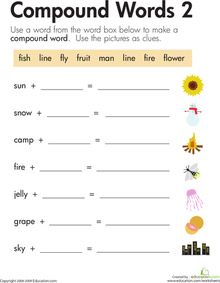 Worksheets Compound Words Worksheets 2nd Grade 7 best images of compound words story printables 2nd grade worksheets