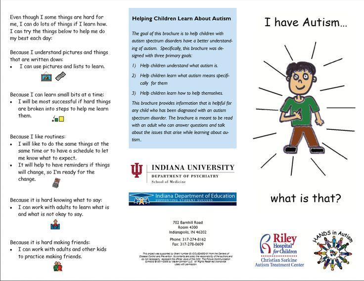 7 Images of Printable Autism Brochures