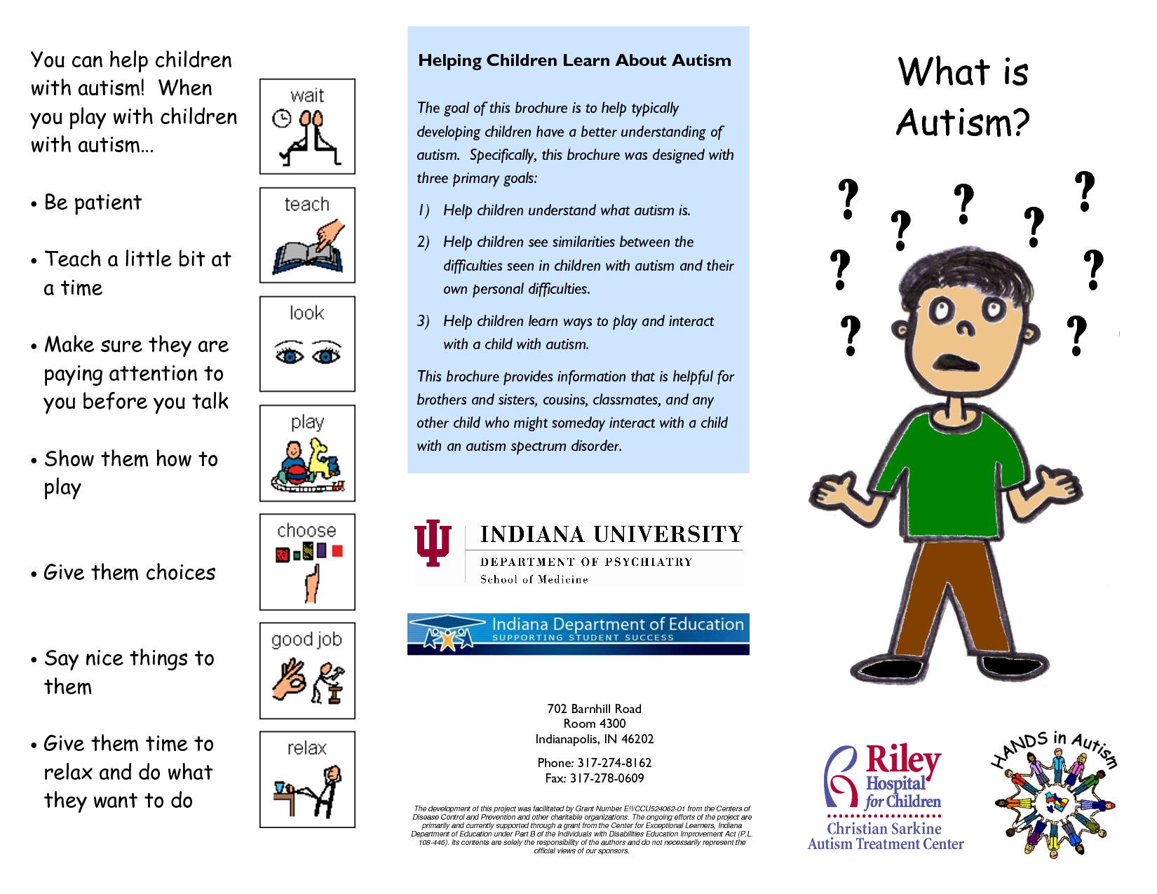 Best Images of Printable Autism Brochures - Autism Awareness Brochures ...
