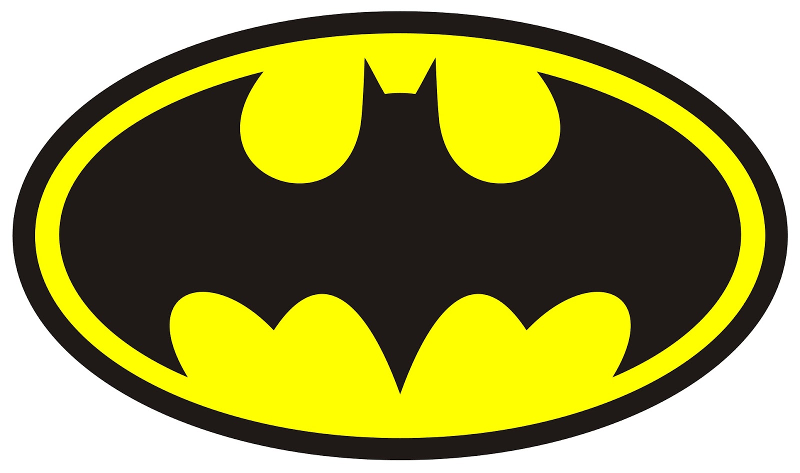 6 Images of Free Printable Batman Symbol