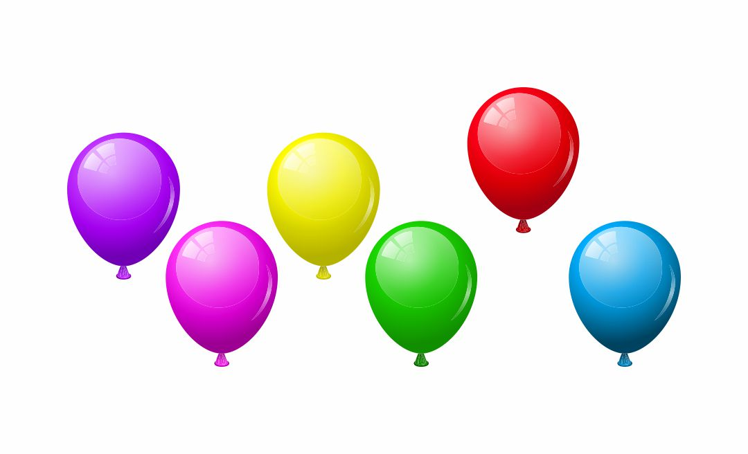 Birthday Balloon Cutouts