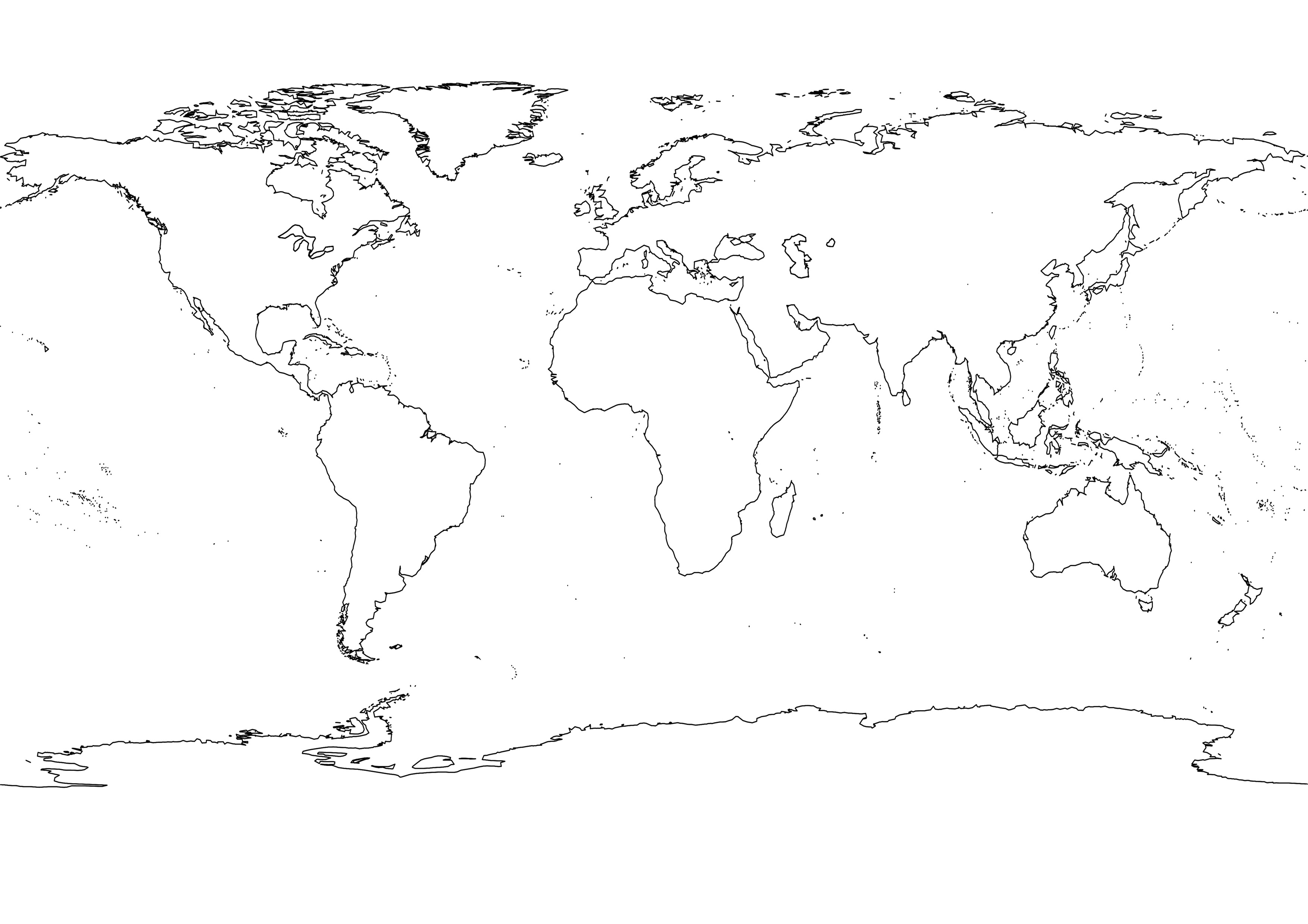 4 Best Images of Printable Map Of Continents Black And ...