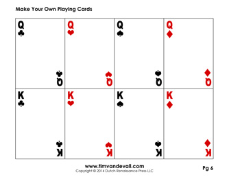 7 Images of Printable Playing Cards Pattern