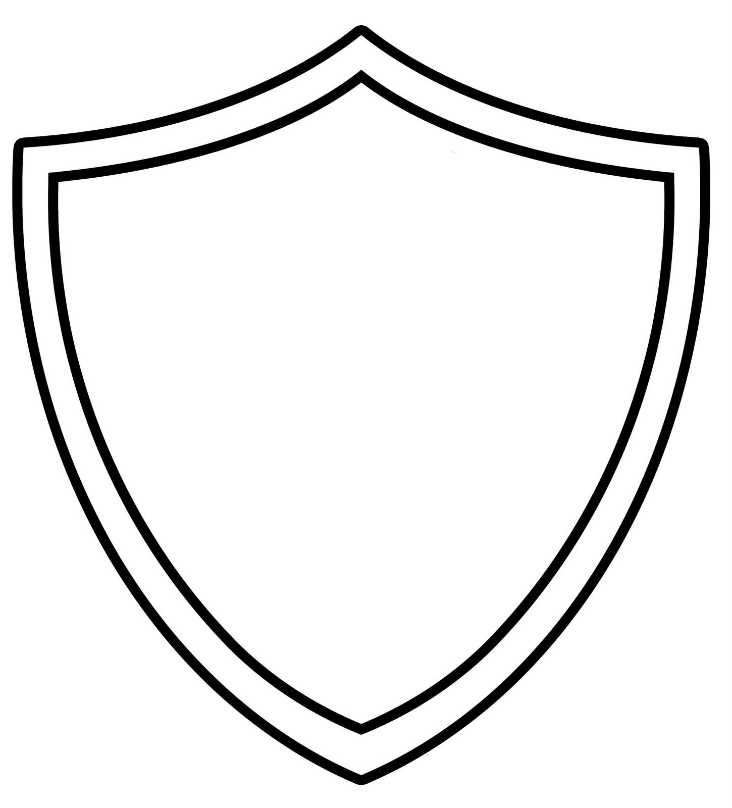 Blank Superhero Shield Template