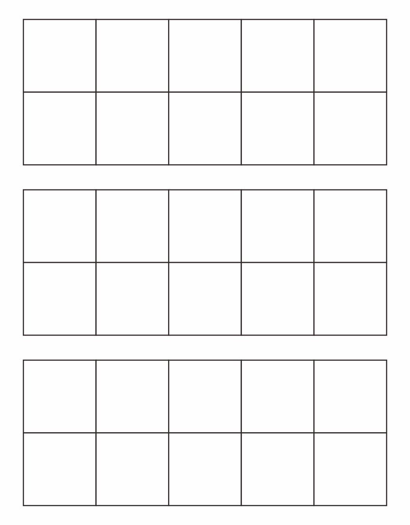 Blank Ten Frames Printable