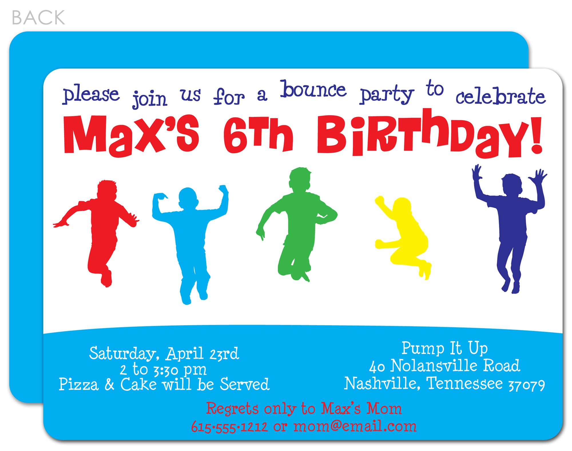 Boy Birthday Invitation