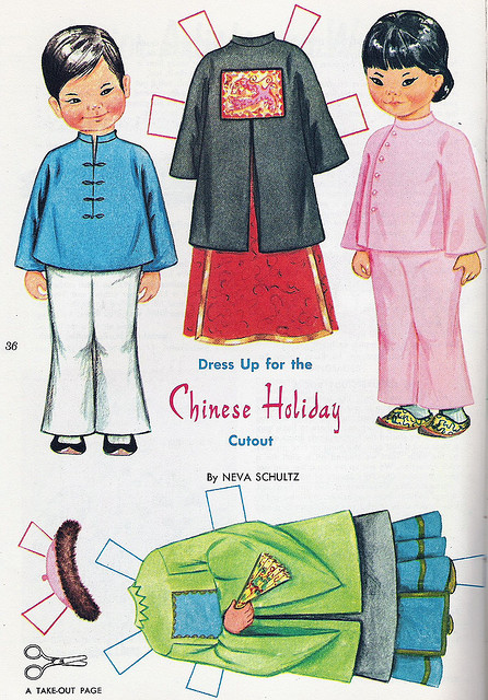 8 Images of China Printable Paper Dolls