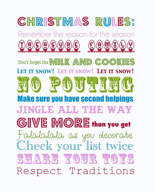 7 Images of Christmas Decor Verse Printables