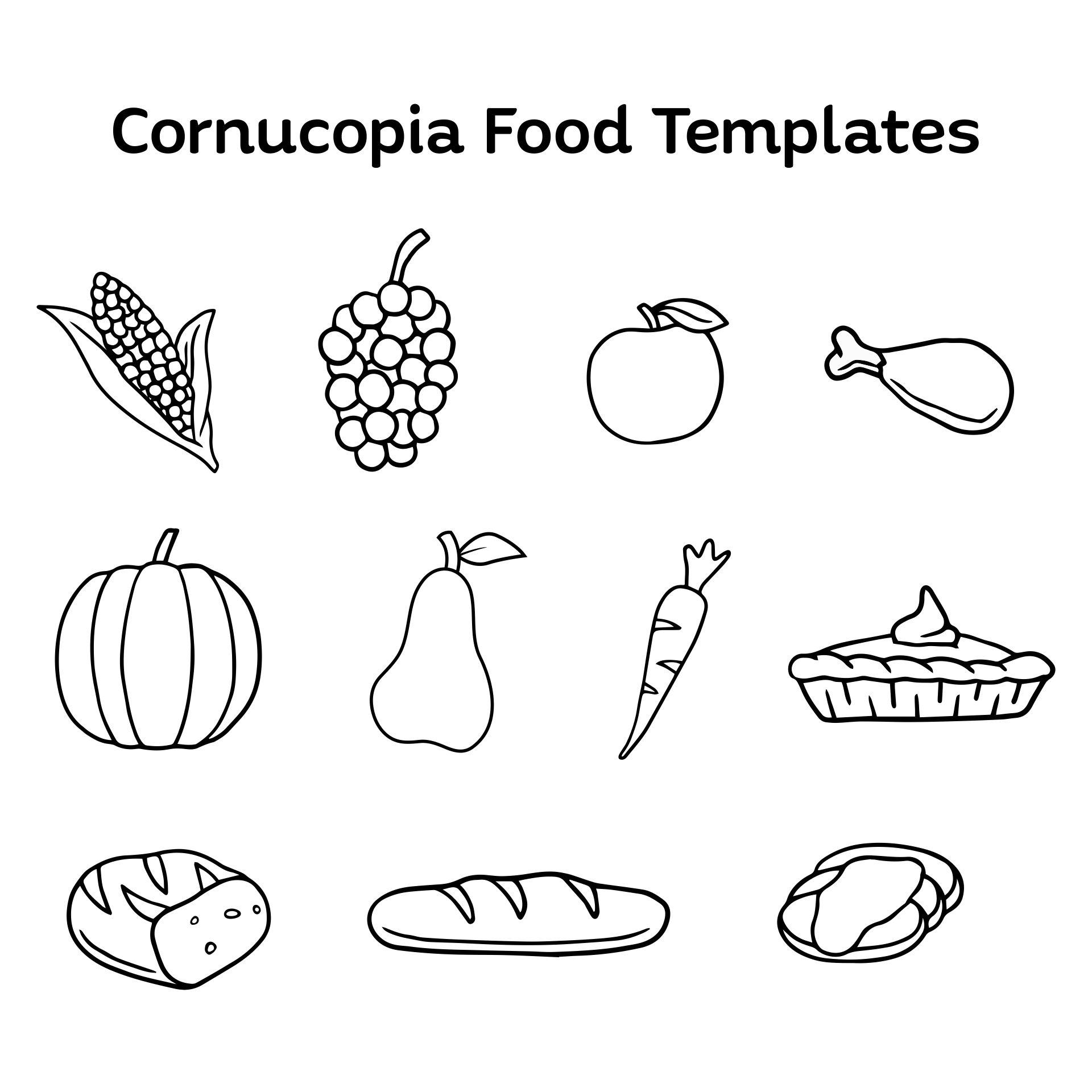 Cornucopia Food Printables Templates