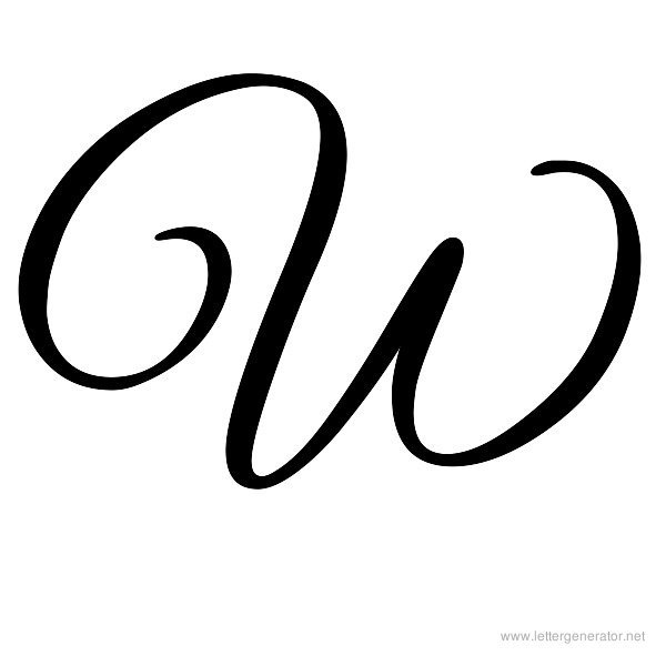 See Cursive Letter W, Decorative Letter W & W Bubble Letters Coloring ...